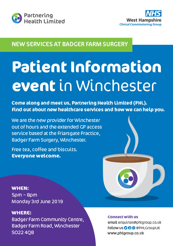 Badger Farm Surgery News Compton And Shawford Pc
